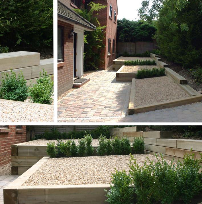 Simply garden design ascot simply sleepers for Garden designs using sleepers