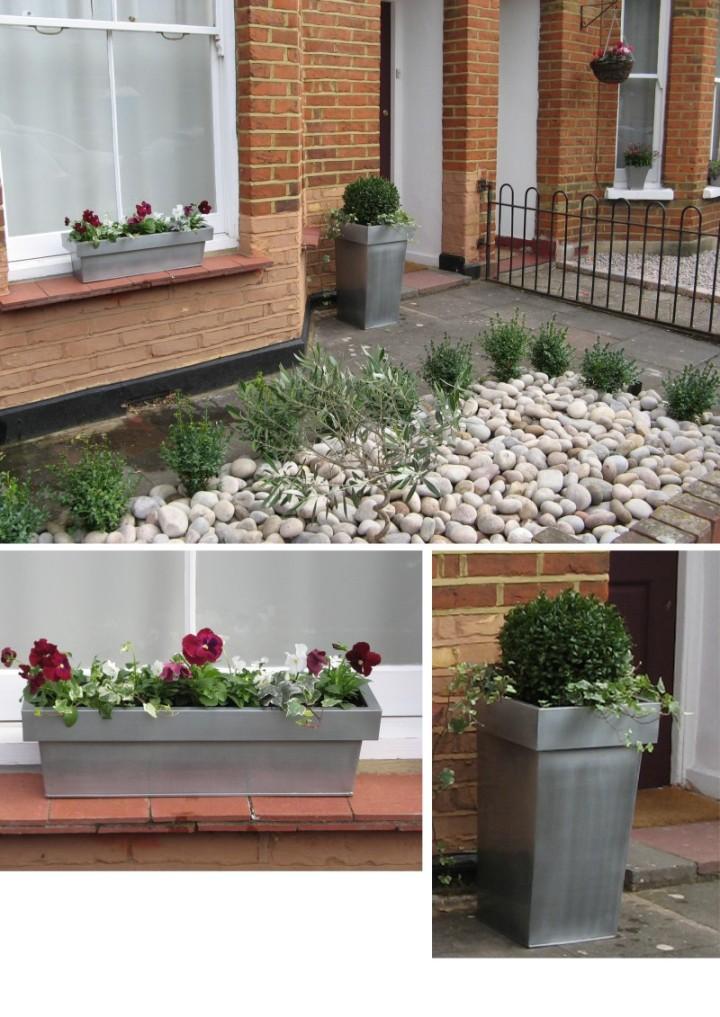 Simply garden design ascot planters pebbles Simply garden design